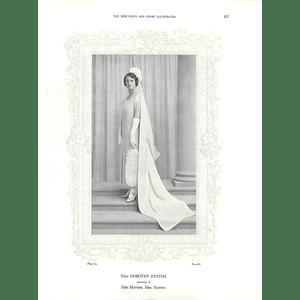1925 Miss Dorothy Eyston & Mrs H F Cooke