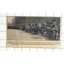 1936 Horses And Vans Of James Buchanan And Co Ltdd, Procession