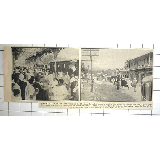 1936 Railway Station Addis Ababa,, Fleeing Disorder And Death