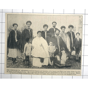 1936 Emperor Of Abyssinia, Family Group Photograph Before Fleeing Addis Ababa