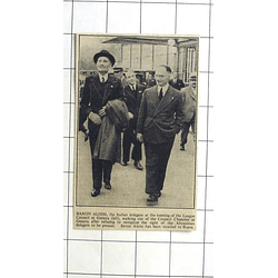 1936 Baron Aloisi Quits Geneva Council Fails To Recognise Abyssinian Rights