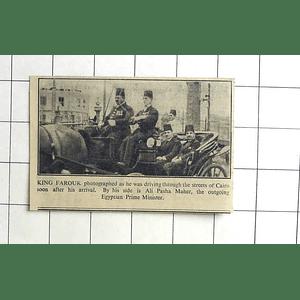 1936 King Farouk Driving Through The Streets Of Cairo, Ali Pasha Maher