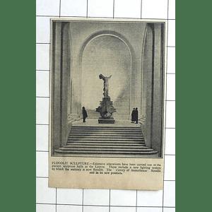 1936 Victory Of Samothrace Floodlit Sculpture Louvre