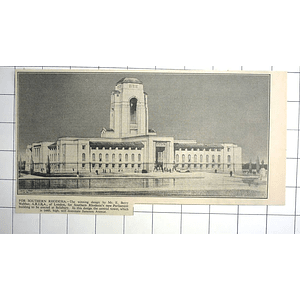 1936 New Parliament Building To Be Erected At Salisbury, E Berry Webber