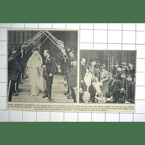 1936 York Minster Wedding Lord Feversham And Anne Wood