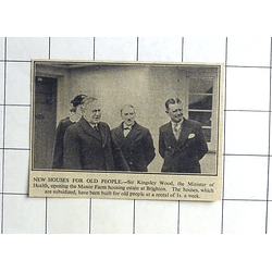 1936 Sir Kingsley Wood Opening Manor Farm Housing Estate At Brighton