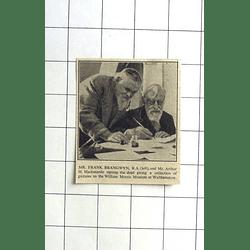 1936 Mr Frank Brangwyn And Arthur Mackmurde Signing Deed William Morris Museum