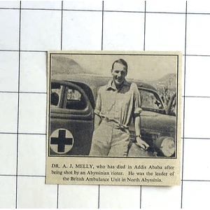 1936 Dr Aj Melly Shot By Abyssinian Rioter Addis Ababa