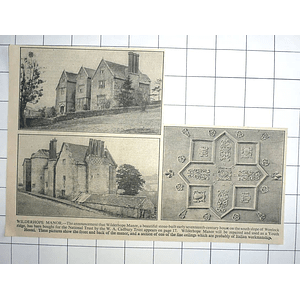 1936 Wilderhope Manor To Be Repaired And Used As Youth Hostel