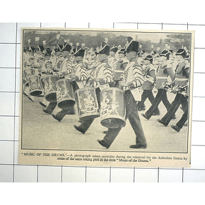 1936 Drum Units Rehearsal Aldershot Tattoo Music Of The Drums