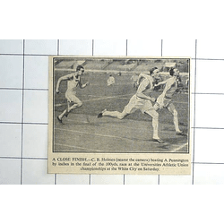 1936 University Championship 100 Yards Race Cb Holmes Beats A Pennington