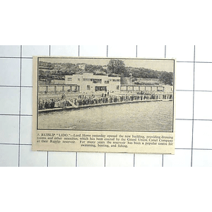 1936 Dressing Rooms Amenities Opened At Ruislip Lido, Reservoir