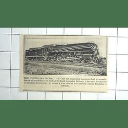 1936 New Australian Streamlined Locomotive Built In Australia