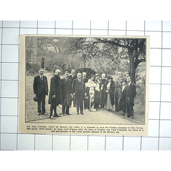 1936 Proposed Site Of Windsor Memorial To King George, King Visits Brewery