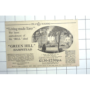 1936 Living Made Easy At Green Hill, Hampstead Flats From £130 P.a.