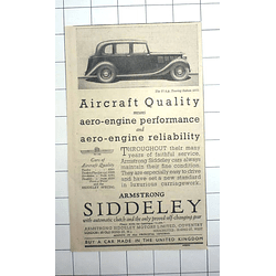 1936 Buy An Aircraft Quality Car, Made In The United Kingdom, £285