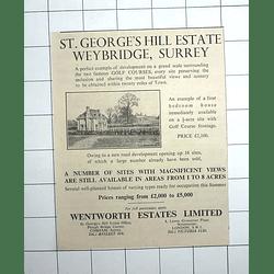 1936 St. George's Hill Estate Weybridge Surrey, Four-bedroom Houses, £2100