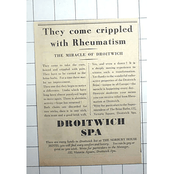 1936 Crippled With Rheumatism, They Come To The Miracle Of Droitwich