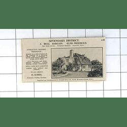 1936 Sevenoaks District Orchard Paddock 3 Acres 5 Bedrooms £2250