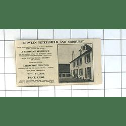 1936 8 Bedroom Georgian Residence  Petersfield And Midhurst 5 Acres £5500