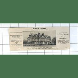 1936 Spottiswoode House, Berwickshire, 107 Acres, £3500