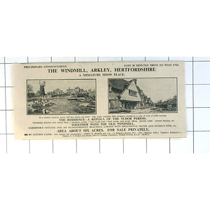 1936 The Windmill, Barclay, Hertfordshire, 6 Acres Showplace For Sale