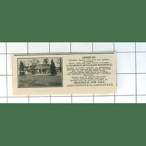 1936 Charming Bungalow Residence Near Leatherhead, Ashtead, For Sale