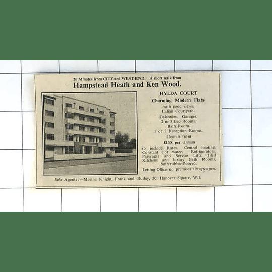 1936 Hilda Court, Charming Modern Flats, £130 P.a., Hampstead Heath, Ken Wood