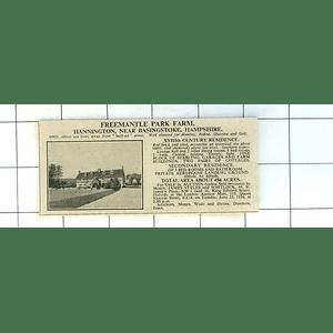 1936 Hannington Near Basingstoke, Freemantle Park Farm For Sale