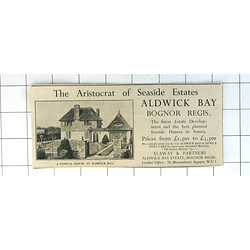 1936 Aldwick Bay Bognor Regis Fine Development Houses From £1500