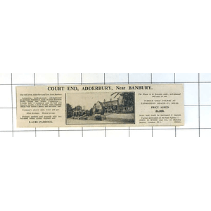 1936 Court End, Canterbury Near Banbury 10 Bedrooms 8 Acres £6000