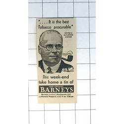 1936 John Sinclair's Barneys Tobacco The Best Procurable