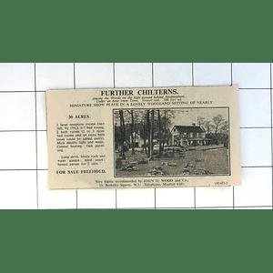 1936 On High Ground Behind Medmenham, Further Chilterns, 7 Bedrooms 30 Acres