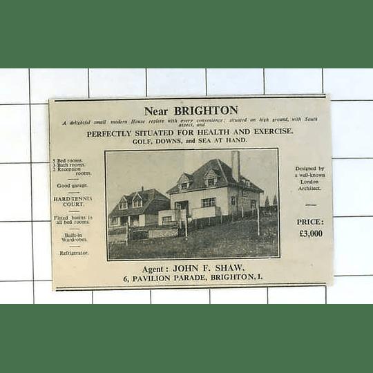 1936 Five Bedroom House Near Brighton, Architect Design, £3000