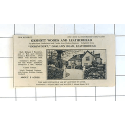 1936 Dorincourt, Oaklawn Road Leatherhead, 11 Bedrooms 2 Acres For Sale