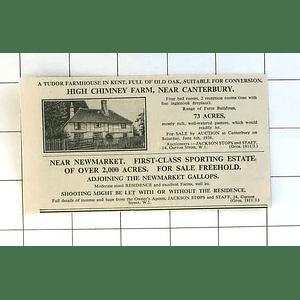 1936 Tudor Farmhouse, High Chimney Farm Near Canterbury For Sale With 73 Acres