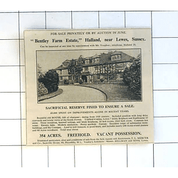 1936 Bentley Farm Estate, Halland Near Lewes Sussex For Sale