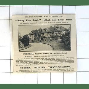 1936 Bentley Farm Estate, Halland Near Lewes Sussex For Sale