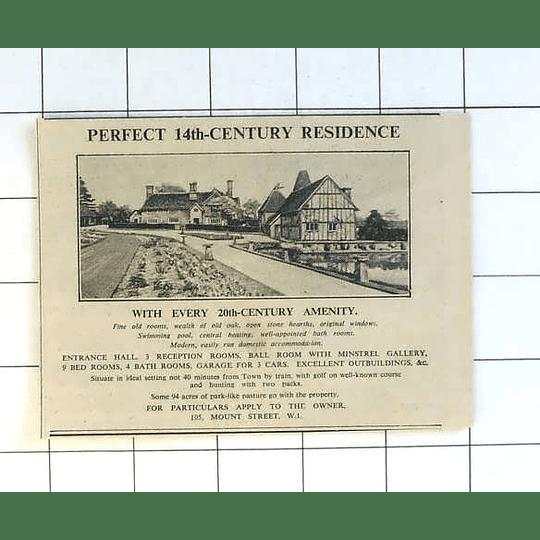 1936 Perfect 14th Century Residence 20th-century Amenities  40 Mins London