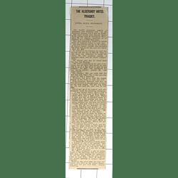1932 Aldershot Hotel Tragedy, Double Poisoning, Girvan,sheen