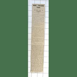 1932 Farmer Discovers Bar Of Gold Amalveor Farm Towednack
