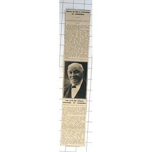 1932 The Death Of Mr Samuel Ph Of Camborne, Man Of Outstanding Ability