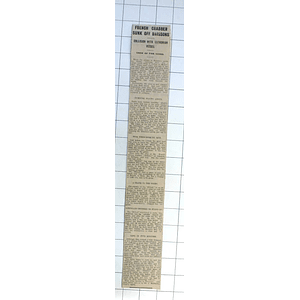1932 French Crabbing Vessel Sunk, Collision With Estonian Vessel