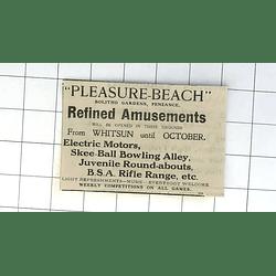 1932 Pleasure Beach Penzance Electric Motors Bowling Alley Rifle Range
