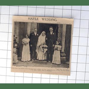 1932 Bride And Groom And Wedding Of Kenneth Uren, Eileen Blackford Truro