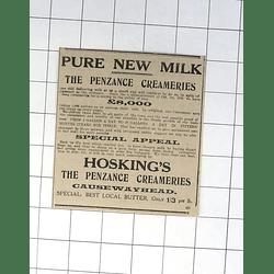 1932 Hosking's The Penzance Creameries Causewayhead