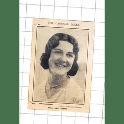 1932 The Carnival Queen, Miss Una Gerry Photo Opie Penzance
