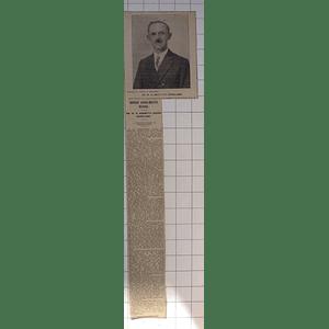 1932 Cornish Schoolmaster Mr Wh And Bennetts,kehelland, Leader Of Village Life