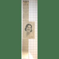 1932 The Carnival Queen, Miss Una Gerry Five Belgravia Street Penzance