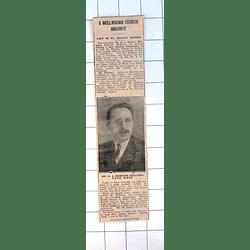 1937 Cornish Organist Rj Maddern Williams To Visit St Buryan Church